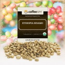 Fair-Trade Organic Ethiopia Sidamo Green Coffee