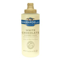 Ghirardelli White Chocolate Sauce, 17 oz Squeeze Bottle