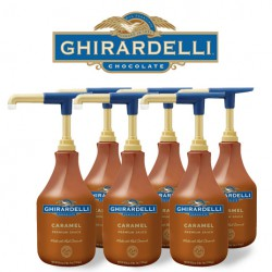 Ghirardelli Caramel Sauce, Case (6) units of 64 oz.
