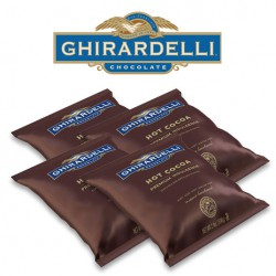 Ghirardelli Double Chocolate Hot Cocoa Case of 4 2lb Bags