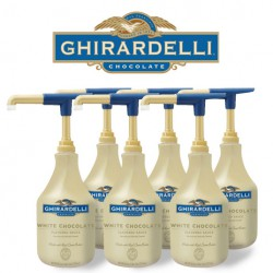 Ghirardelli White Chocolate Sauce Case (6) units of 64 oz.