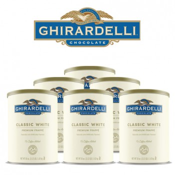 Ghirardelli Classic White Frappé, (6) 3 lbs. units