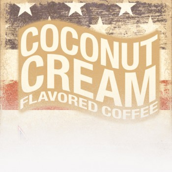 Coconut Cream Flavored Coffee (Patriotic Theme)