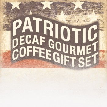 Patriotic Decaf Gourmet Coffee Gift Set (Patriotic Theme)